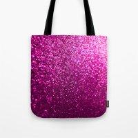 Pink Sparkle Glitter Tote Bag