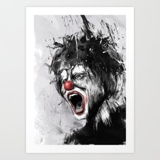 The Clown Art Print
