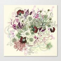 Zentangle Floral Mix II Canvas Print
