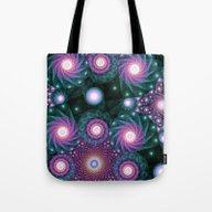 Tote Bag featuring Galexies Collide  by Kirsten Star