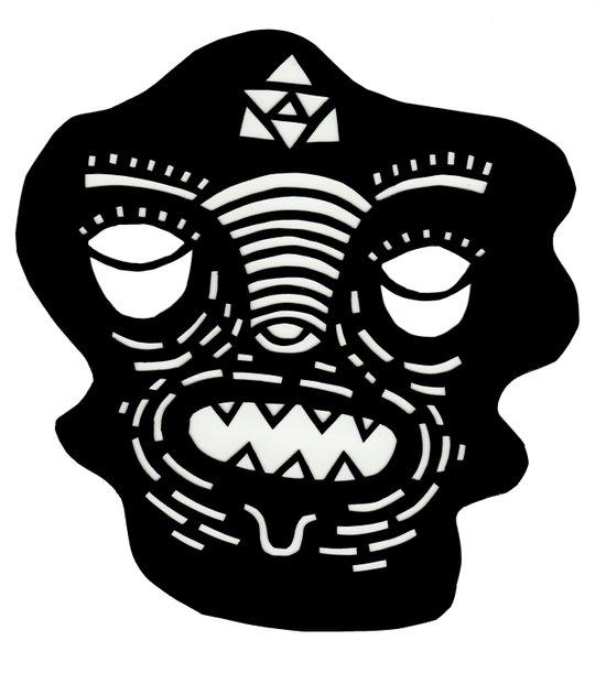 stencil face Art Print