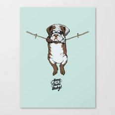 Hang in There Baby English Bulldog Canvas Print