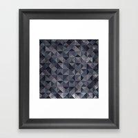 Moody Mosaic Framed Art Print