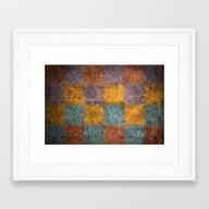 Grunge Grid Framed Art Print