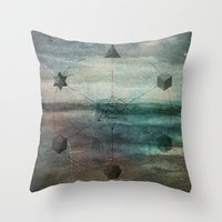Platonic Solids Throw Pillow