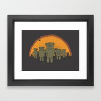 Dawn Of The Ted Framed Art Print