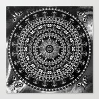 Licorice Mandala Canvas Print