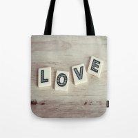 Letter Love Tote Bag