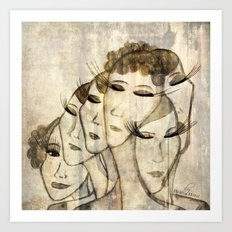 Silence shower Art Print