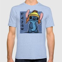 Shiny And Blue Mens Fitted Tee Tri-Blue SMALL