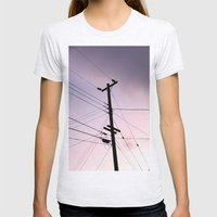 Lines Of Communication Womens Fitted Tee Ash Grey SMALL