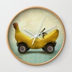 Banana Buggy Wall Clock