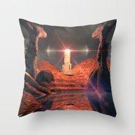 Mystical Fantasy World Throw Pillow