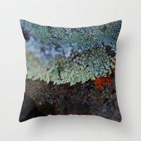 Lichen Ice Throw Pillow