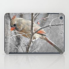 Female Cardinal iPad Case