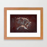 DARK LION Framed Art Print