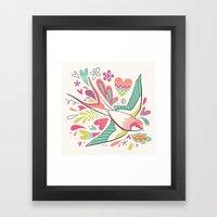 Spring Swallow Framed Art Print