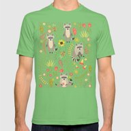 Raccoons Mens Fitted Tee Grass SMALL
