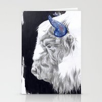 Space Cow Stationery Cards