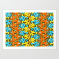 Something is Nicely Fishy Here! Art Print