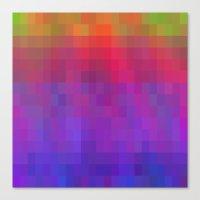 Brilliant Color Bands Canvas Print