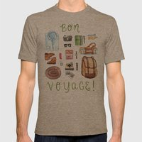 Bon Voyage Mens Fitted Tee Tri-Coffee SMALL