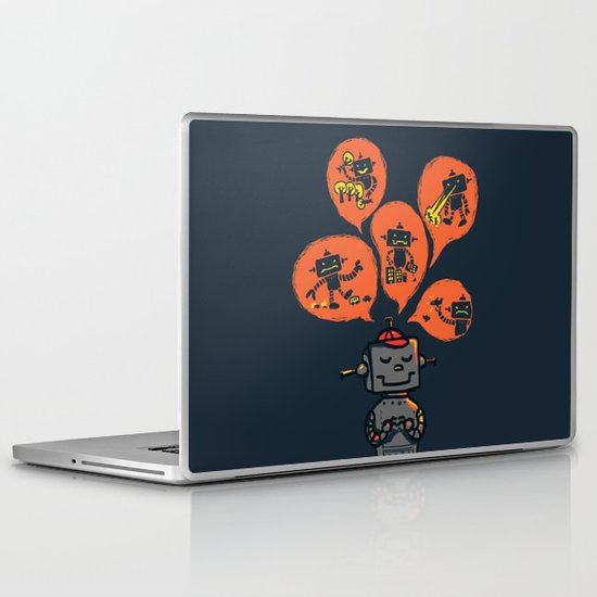 When I grow up - an evil robot dream Laptop & iPad Skin