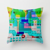 Glitch 002 Throw Pillow