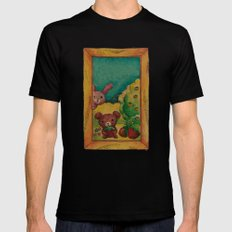 Forest wool Black SMALL Mens Fitted Tee