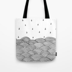 Rain And Sea Tote Bag