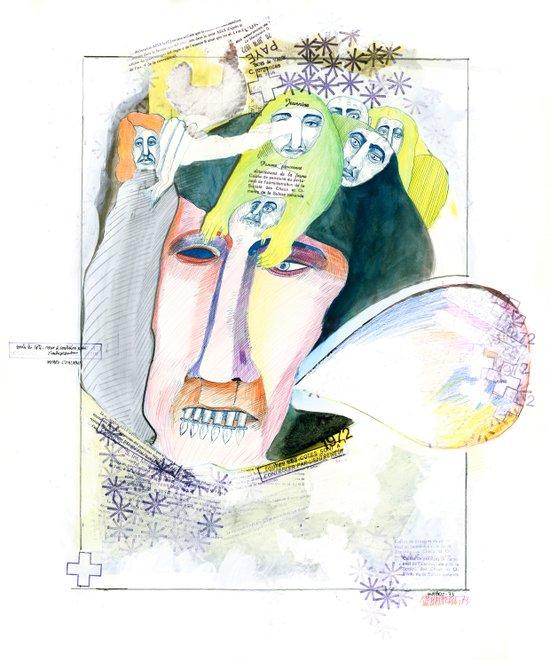 The businessman Art Print