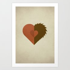 Beauty and the Beast - No Text Art Print