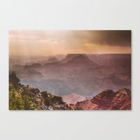 Grand Canyon Rainfall - South Rim Canvas Print
