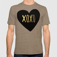 XOXO x Gold Mens Fitted Tee Tri-Coffee SMALL