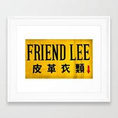 Friendly in Korea Framed Art Print