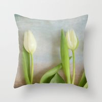 Tulips - JUSTART © Throw Pillow