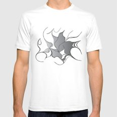 bursts White Mens Fitted Tee SMALL