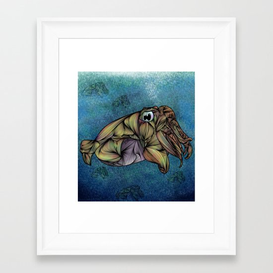 CuttleFish Framed Art Print