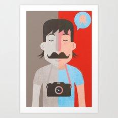 Moustachu Art Print