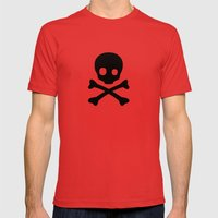 Skull Mens Fitted Tee Red SMALL