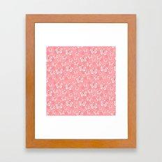 Pink Floral Design Framed Art Print
