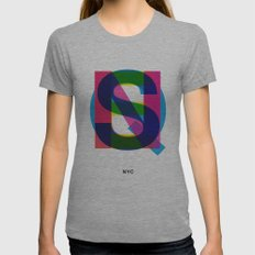 Queens Womens Fitted Tee Athletic Grey SMALL