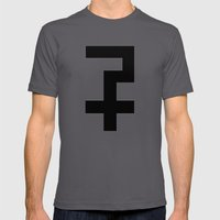 Kathedral Cross Black Mens Fitted Tee Asphalt SMALL