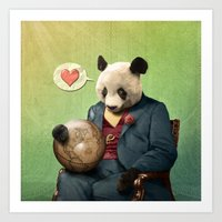 Wise Panda: Love Makes T… Art Print