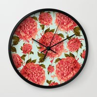 A Splash of Peony, A Dash of Color Wall Clock