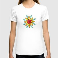 Folk Star Womens Fitted Tee White SMALL