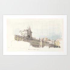 Praca do Comercio, Lisbon, Portugal. Art Print