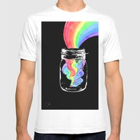 To Catch A Rainbow  Mens Fitted Tee White SMALL