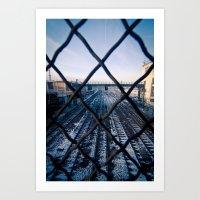Paris Train Tracks Art Print