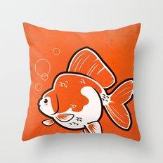 Ryukin Goldfish Throw Pillow